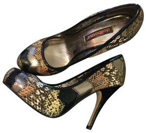 Dollhouse Multi & Animal Print Pumps