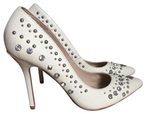 ALDO White & Silver Pumps