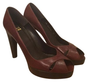 Stuart Weitzman Brown leather Platforms
