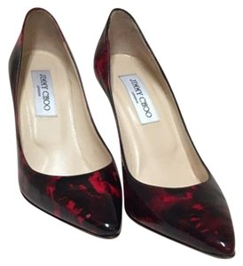 Jimmy Choo Red and Black Pumps