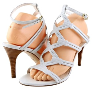Ralph Lauren Collection Arabelle Leather Eur 39 White Sandals