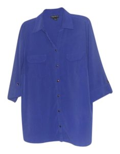 Maggie Barnes Button Down Shirt Purple
