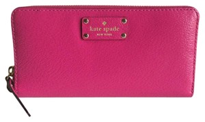 Kate Spade Kate Spade Weselley Neda Sweetheart Pink Ziparound Leather Wallet