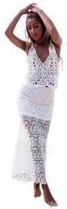 SABO SKIRT Going Out Lace Cropped Crop Australian Top White