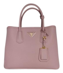 Prada Double Cuir Tote in Pink