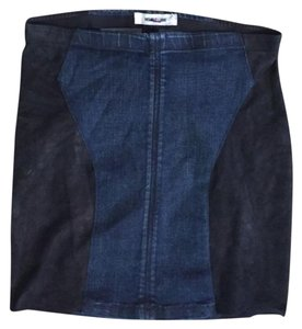 Helmut Lang Mini Skirt Black & blue