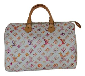 Louis Vuitton Speedy 35 Limited Edition Satchel in Watercolor Aquarelle