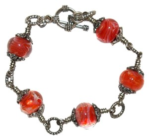 Other Glass Bead Toggle Bracelet