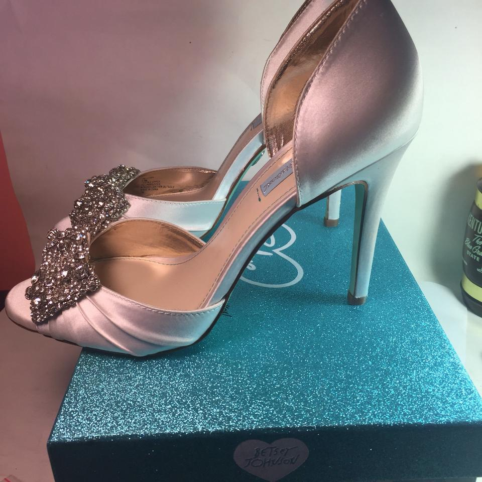 Betsey Johnson White Blue By Gown 9m Pumps Size US 9 Regular (M, B ...