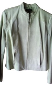 Valerie Stevens petite Lime green suede Leather Jacket