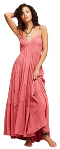 Pink Maxi Dress by Free People Boho Bohemian Coachella