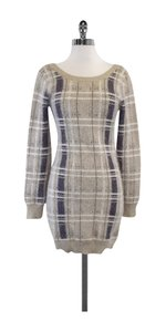 Opening Ceremony short dress Tan & Brown Plaid Angora on Tradesy