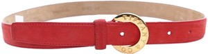 Tiffany & Co. Tiffany & Co. red suede belt. Size 28. Sold AS-IS