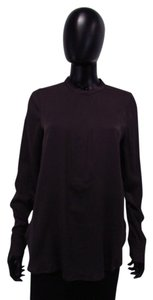Vince Shiny Blouse with Cuffed Sleeves