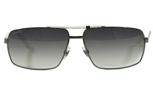 Gucci NEW GUCCI 289659 Web Stripe Sunglasses, White/Grey
