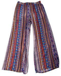ivy jane Wide Leg Casual Geometric Wide Leg Pants Multi