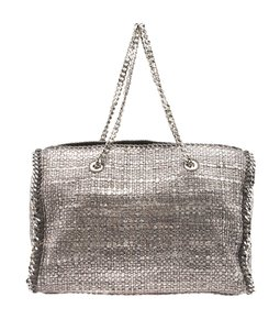 Stella McCartney Falabella Tweed Tote in Silver