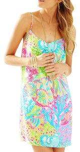 Lilly Pulitzer short dress Multi Lovers Coral on Tradesy