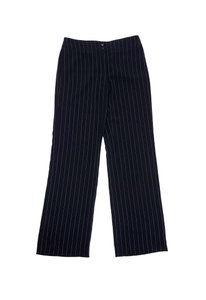 Armani Collezioni Black Grey Pinstripe Trousers Trouser Pants