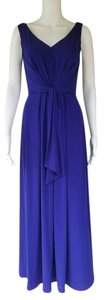 Blue Maxi Dress by Suzi Chin Maxi Slinky Grape Sleeveless