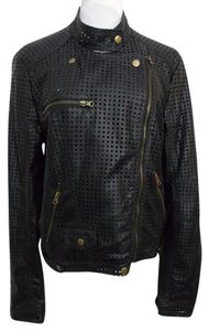 RD Style Moto Faux Leather Perforated Vegan Friendly Motorcycle Jacket