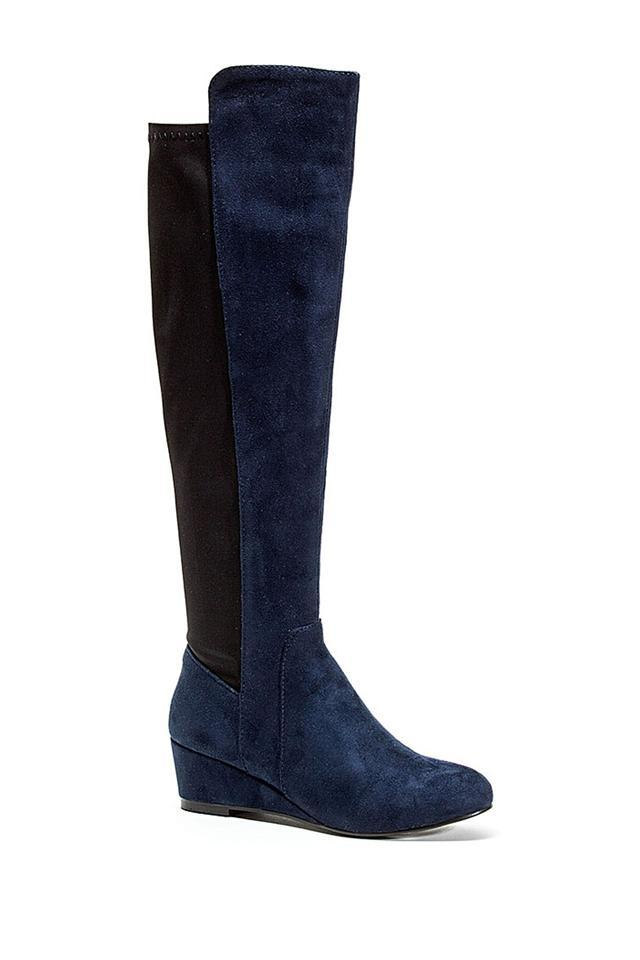 Blue/Black Wedge Jessica Wedge Blue/Black Tall Shaft 38 Boots/Booties 6303e5