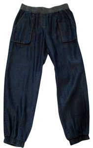 ivy jane Pull On Casual Jogger Tencel Baggy Pants Blue