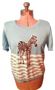 Talbots Zebra Cotton Sweater