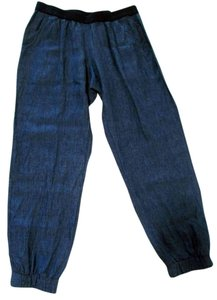 ivy jane Pull On Casual Jogger Baggy Pants Blue