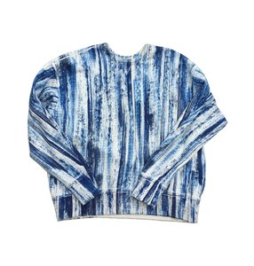 Rag & Bone White Blue Print Sweatshirt