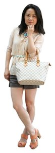 Louis Vuitton Satchel in white azur