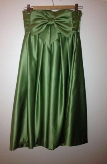 Bill Levkoff Clover (Green) Polyester Style 370 Formal Bridesmaid/Mob Dress Size 4 (S)