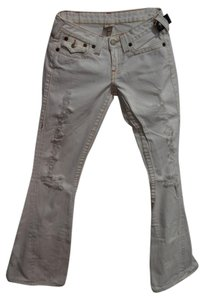 True Religion Wide Flare Leg Jeans-Coated