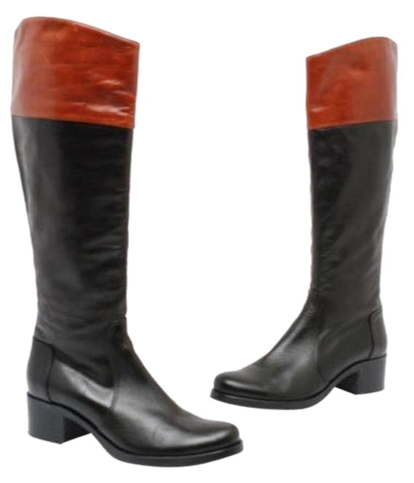 L.K. Bennett Riding Black Leather Knee High Riding Bennett 36/Us Boots/Booties 624d09