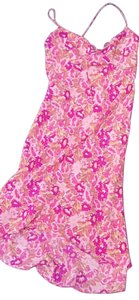 Express short dress Pink Floral Hi Lo Flowy Tie on Tradesy