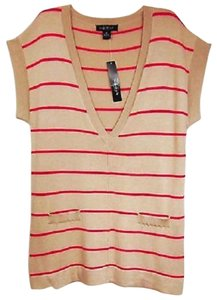August Silk Vest Striped Tunic