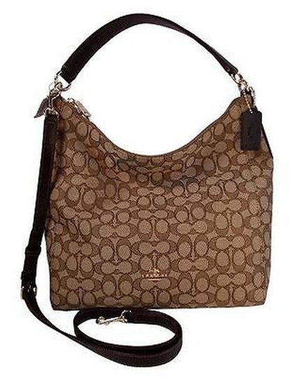 Preload https://img-static.tradesy.com/item/19429531/coach-small-logo-celeste-convertible-crossbody-khaki-brown-jacquard-hobo-bag-0-1-540-540.jpg