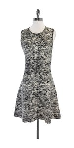 Theory short dress Black Cream Sleeveless Knit on Tradesy