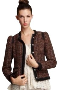 Free People Black/ brown Blazer