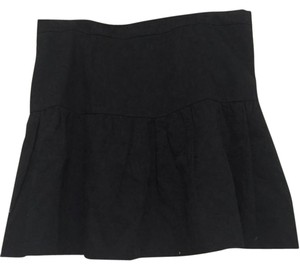 J.Crew Pleated Texture Mini Skirt Black