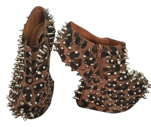 Jeffrey Campbell Animal print & studs Boots