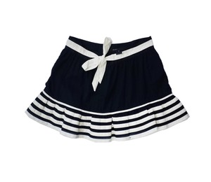 Marc Jacobs Black White Striped Cotton Mini Skirt