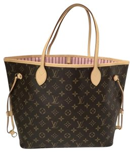 Louis Vuitton Neverfull Mm Rose Ballerina Shoulder Bag