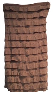 5th Culture short dress Light brown on Tradesy