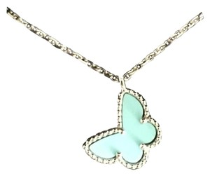 Van Cleef & Arpels Van Cleef & Arpels Rare Turquoise Sweet Alhambra Necklace W/ Receipt And Authenticity Card