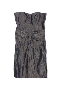 Nicole Miller short dress Brown Metallic Strapless on Tradesy