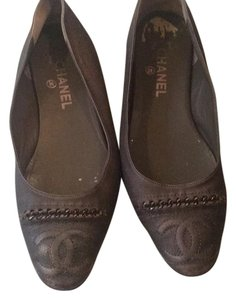Chanel Pewter Flats