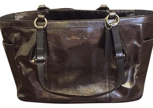 Coach Satchel in Pewter Silver