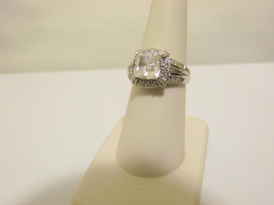 Victoria Wieck RARE Victor Wieck 14K White Gold Princess-cut Absolute Ring Size 7