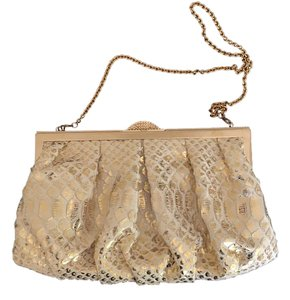 Judith Leiber Champagne/gold Clutch